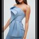 【Back In Stock!!再入荷】Bandeau Fold Bow Front  Midi Dress (ミディ丈 バンドゥフォルドワンピ)
