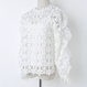 Flower Lace Blouse With Bou Tie  (フラワーレース フリルブラウス )