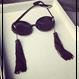 """Unique Deco Sunglasses With Tassel  """"GAGA""""/ タッセル付き ユニークデコラティブサングラス """"ガガ"""""""