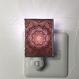 伊勢型紙のナイトランプ【メダリオン】RED【送料無料 税込】