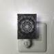伊勢型紙のナイトランプ【メダリオン】BLACK【送料無料 税込】