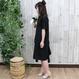 SIDE FRILLED DRESS black