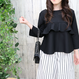 FRILLED  TOP black