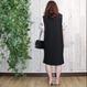EMBROIDERED SLEEVE DRESS black
