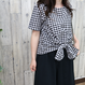 FRONT KNOT  TOP gingham check