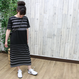LONG DRESS black/gray
