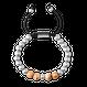 Macrame Bracelet 8mm - Burlwood/Steel