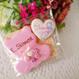くま花束とミニハートのセット プチギフト