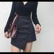 【お取り寄せ商品】スリムアシメミニスカート