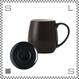 ORIGAMI オリガミ バレルアロママグ&ソーサー ブラック 320cc コーヒーマグ&ソーサー アロマが愉しめる 日本製