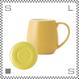ORIGAMI オリガミ バレルアロママグ&ソーサー イエロー 320cc コーヒーマグ&ソーサー アロマが愉しめる 日本製