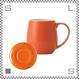 ORIGAMI オリガミ バレルアロママグ&ソーサー オレンジ 320cc コーヒーマグ&ソーサー アロマが愉しめる 日本製