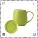 ORIGAMI オリガミ バレルアロママグ&ソーサー グリーン 320cc コーヒーマグ&ソーサー アロマが愉しめる 日本製