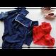 [Zi dancewear] 復刻版・2 Sleeves leotard with collar, Sea gull (Dark sapphire)