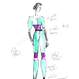 [Zi dancewear] Sweater with colour waist ・2型