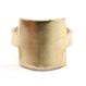 Raw Brass Adjustable Ring  / Square