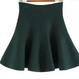 ハイウエスト フレアミニスカート 5color