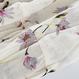 シフォン七分袖花柄ワンピース