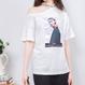 ネックロゴワンショルダーTシャツ