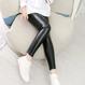 【 kids】leather-leggings