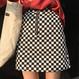 白黒 チェック スカート
