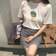 ラベンダー 刺繍 Tシャツ