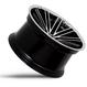 Rohana RC20  20×9.0J  Machine Black w/Chrome Lip(マシンブラック/クロームリップ)