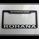 Rohana wheels ナンバーフレーム(USサイズ)Matte Black