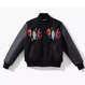 "STUSSY ""harajuku renewal"" leather stadium jacket (Black)"
