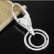 楕円型デザインキーリング 2個セット