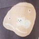 猫 竹絞り帯揚げ チャコールグレー