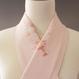 メリーゴーランド刺繍 ピンク地