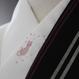 猫刺繍半襟 ハートピンク