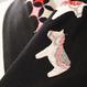 メリーゴーランド刺繍 黒地