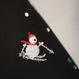雪だるま刺繍 黒