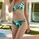 葉っぱ柄ビキニ 2点セット Bikini ワイヤーなし水着
