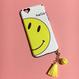 《即納/再入荷》スマイルiPhone6/6sチャーム付きケース♡ニコちゃん/
