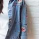 《即納》花柄刺繍デニムジャケット♡