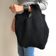 knit tote bag