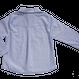 Leo Cats/Blue White ネコポケット丸襟シャツ -25%