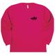 00304 _ドライロングスリーブTシャツ(オレンジ/ホットピンク)