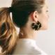Clare Earrings in Chameau Stripe