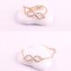 [LS018]ゴールドインフィニティ ブレスレット チェーン メタル