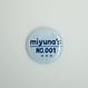 【Badge-No.001】miyuna's  オリジナル缶バッジ