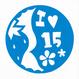 丸型シリーズ【吹き出しの Iハート15フラワー】12cm版