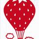 ワンポイントシリーズ【雲といちご気球】6cm版