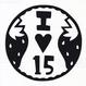 丸型シリーズ【 Iハート15】12cm版