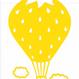 ワンポイントシリーズ【雲といちご気球】12cm版