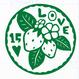 丸型シリーズ【葉っぱのLOVE15ハート】6cm版