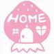 ロゴマークシリーズ【いちごのお家】9cm版